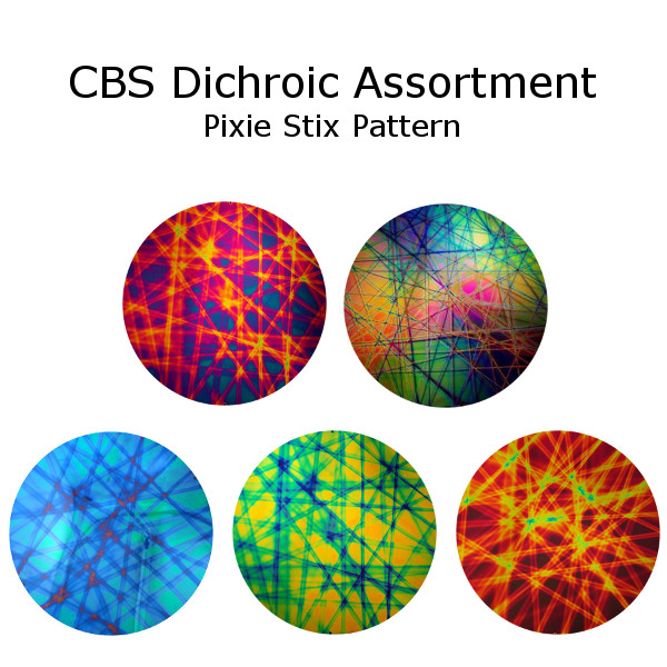 CBS Dichroic Assortment - Pixie Stix Pattern - COE96