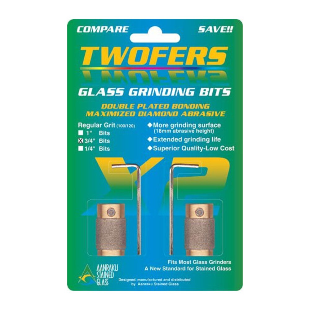 Aanraku Twofers  3/4 Glass Grinding Bits Regular