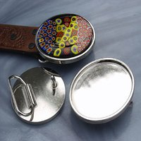 Aanraku Nickel Plated Round Belt Buckle