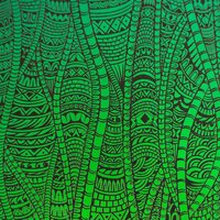 ArtGlassSupplies.com Etched Bamboo Jungle Pattern on Thin Glass COE96