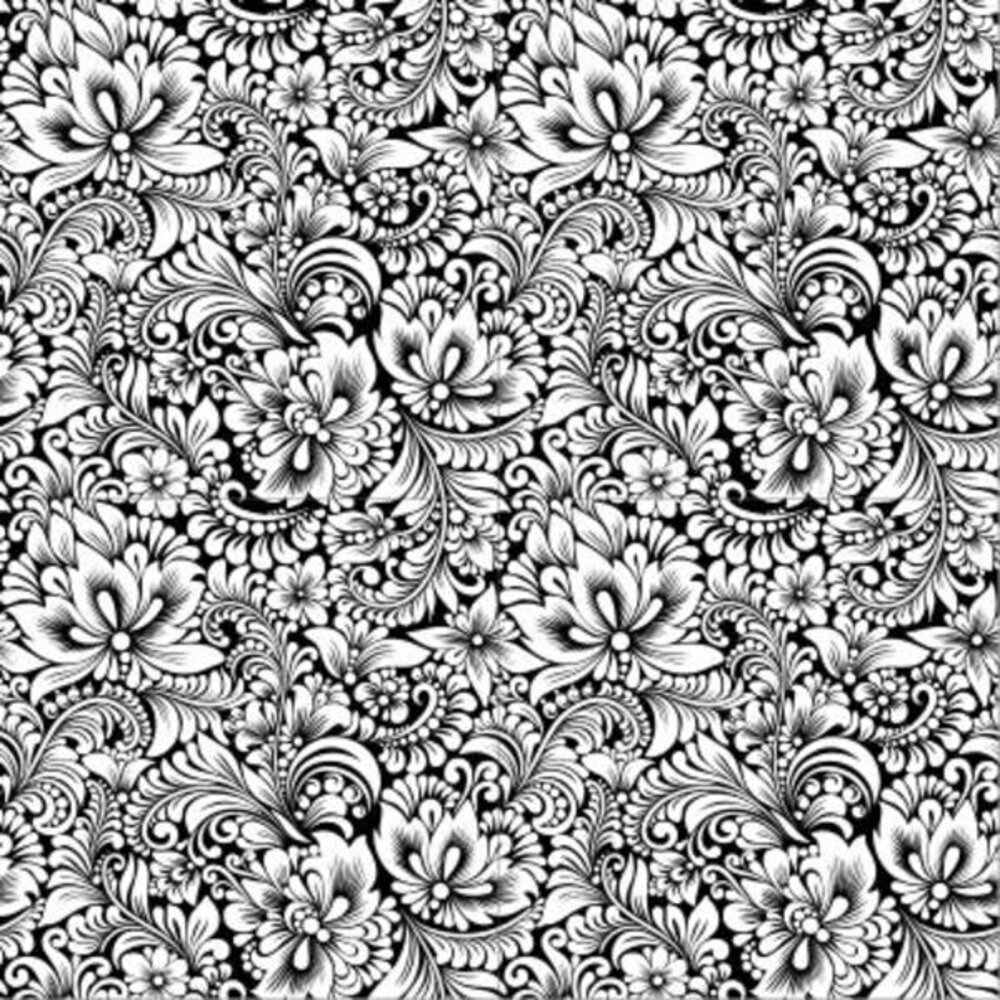 Etched Botanical Pattern