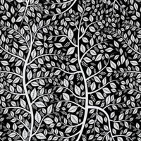 Etched Budding Branches Pattern