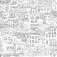 Etched Cityscape Pattern