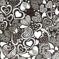 ArtGlassSupplies.com Crazy Hearts Pattern