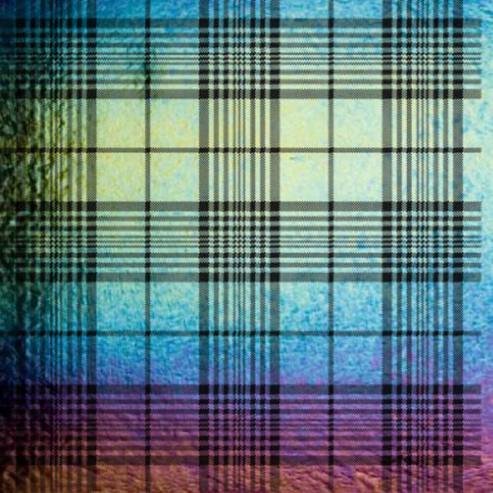 ArtGlassSupplies.com Etched Iridescent Plaid Pattern COE90