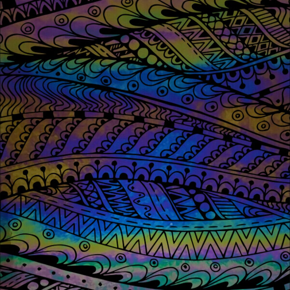 ArtGlassSupplies.com Etched Luminescent Abstract Tribal Pattern COE90
