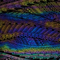 ArtGlassSupplies.com Etched Luminescent Abstract Tribal Pattern COE96