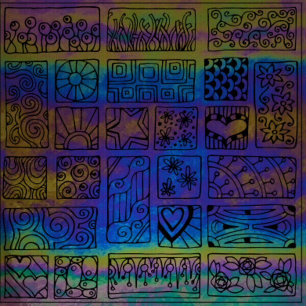 ArtGlassSupplies.com Etched Luminescent Block Party Pattern COE90
