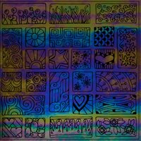 ArtGlassSupplies.com Etched Luminescent Block Party Pattern COE96
