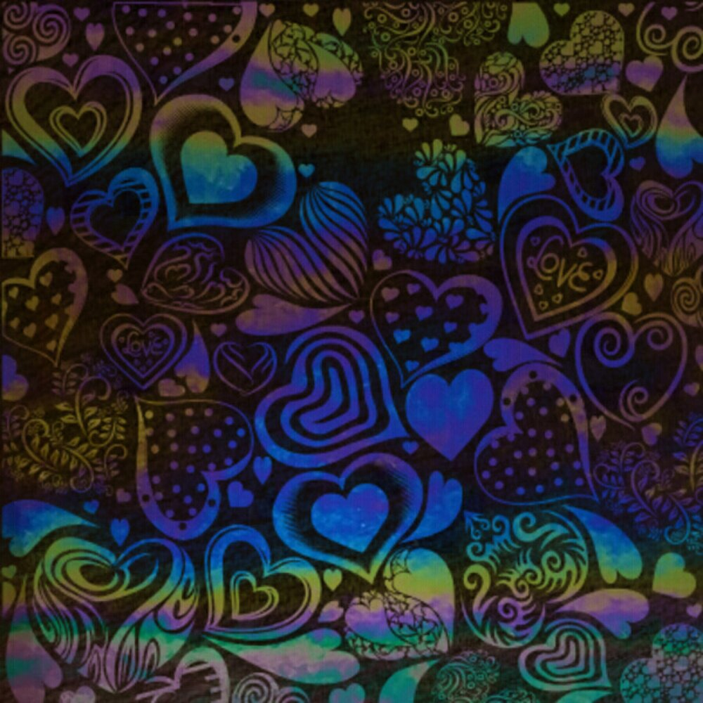 ArtGlassSupplies.com Etched Luminescent Crazy Hearts Pattern COE96