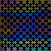 ArtGlassSupplies.com Etched Luminescent  Jigsaw Puzzle Pattern COE90