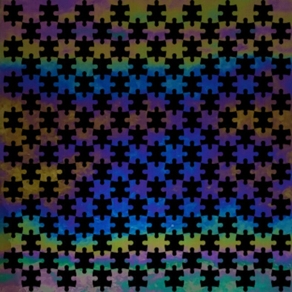 ArtGlassSupplies.com Etched Luminescent  Jigsaw Puzzle Pattern COE96
