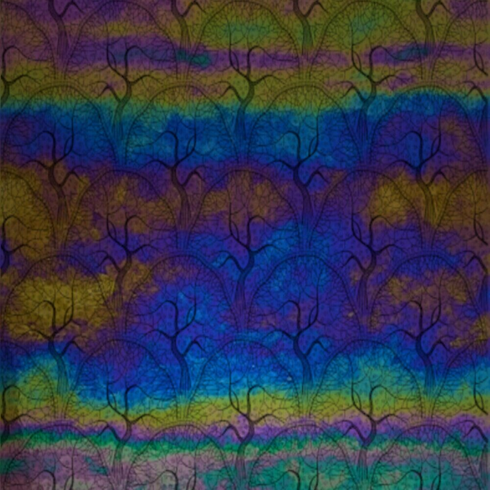 ArtGlassSupplies.com Etched Luminescent Orchard Pattern COE90