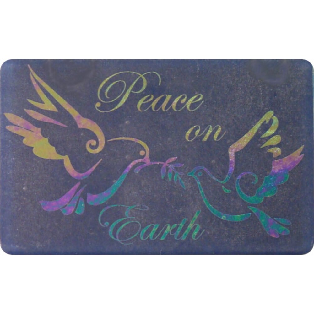 ArtGlassSupplies.com Etched Luminescent Peace on Earth Ornament Pattern COE96