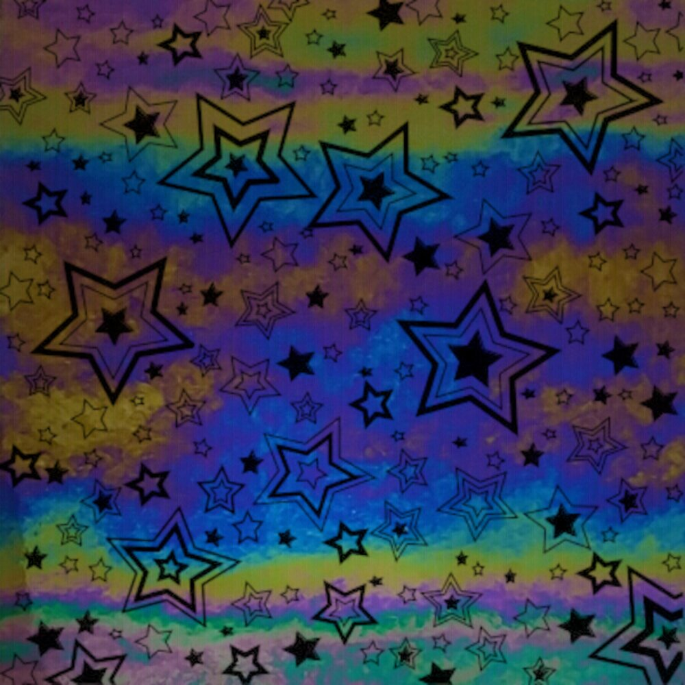 ArtGlassSupplies.com Etched Luminescent Shooting Stars Pattern COE96