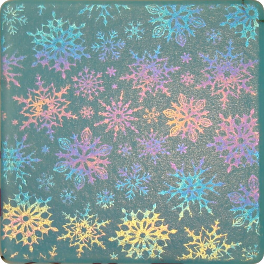 ArtGlassSupplies.com Etched Luminescent Snowflake Ornament Pattern COE96