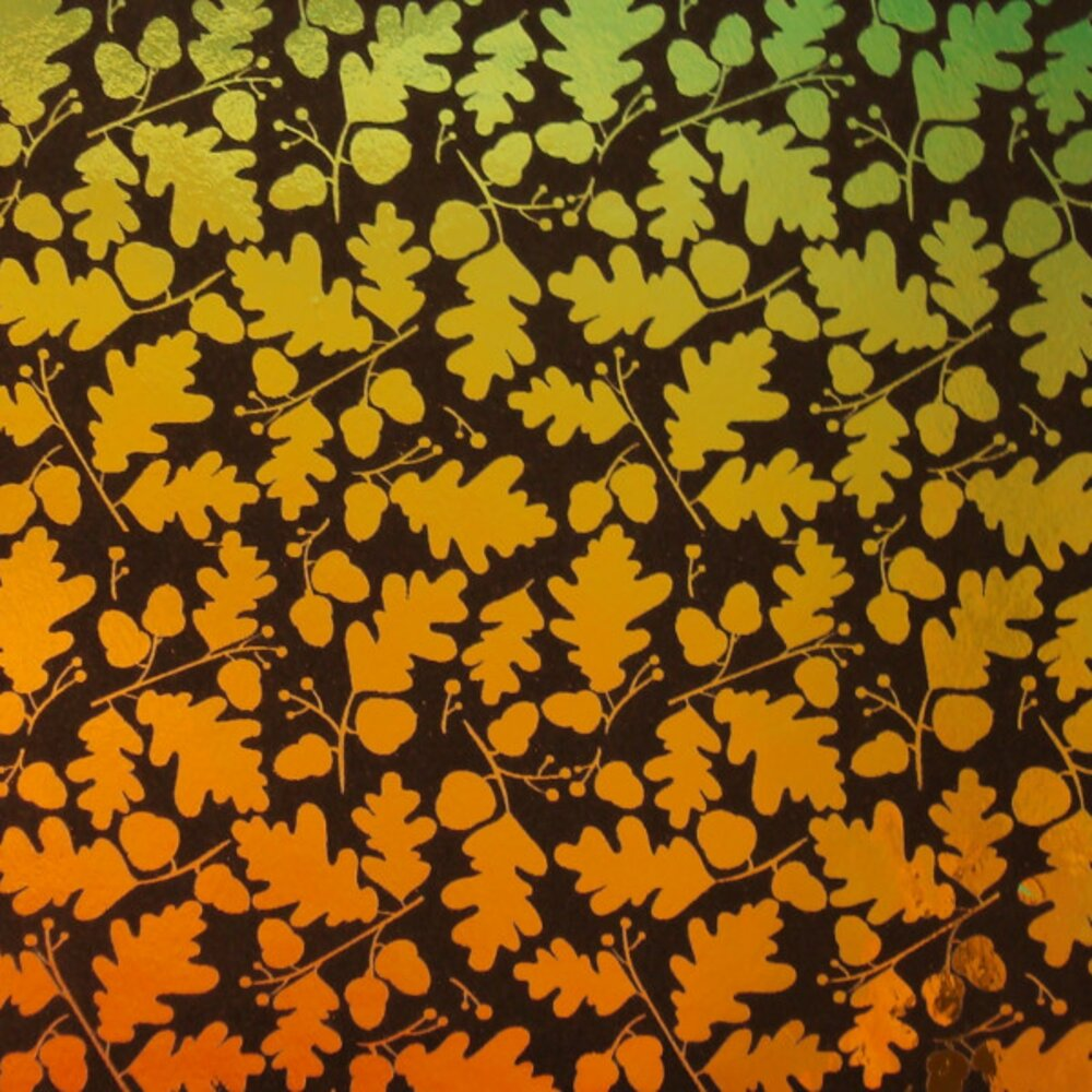 ArtGlassSupplies.com Etched Oak Leaves Pattern on Thin Glass COE96
