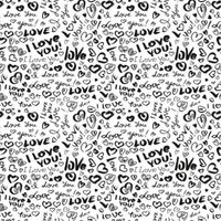 Etched I Love You Pattern
