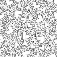 Etched Large Hearts Pattern