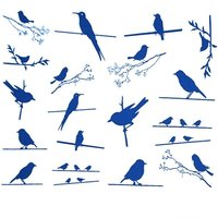Birds on a Wire Decals Sheet