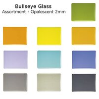 Bullseye Glass Assortment - Opalescent 2mm - COE90