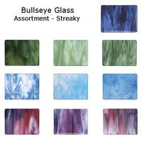 Bullseye Glass Assortment - Streaky - COE90