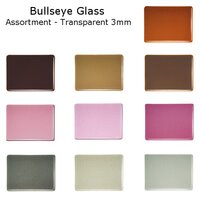 Bullseye Glass Assortment - Transparent 3mm - COE90