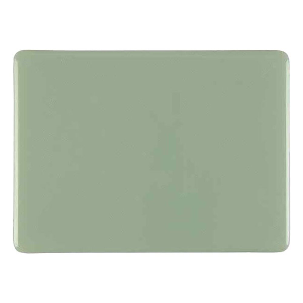 Bullseye Glass Celadon Green Opalescent, Thin-rolled, 2mm COE90