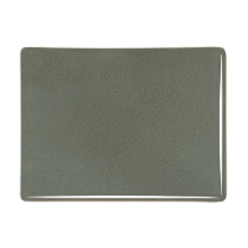 Bullseye Glass Gray Green Opalescent, Thin-rolled, 2mm COE90