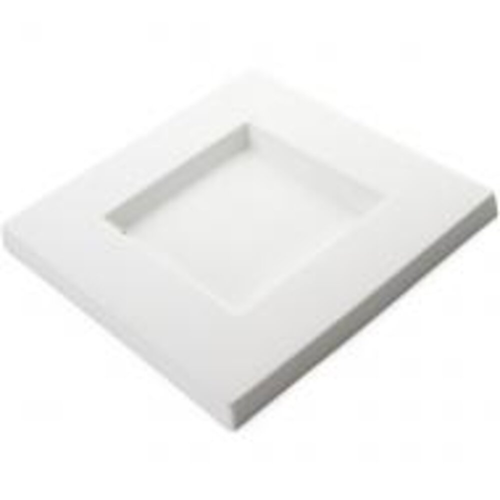 Bullseye Glass Mold #8638, Square Platter 9.6