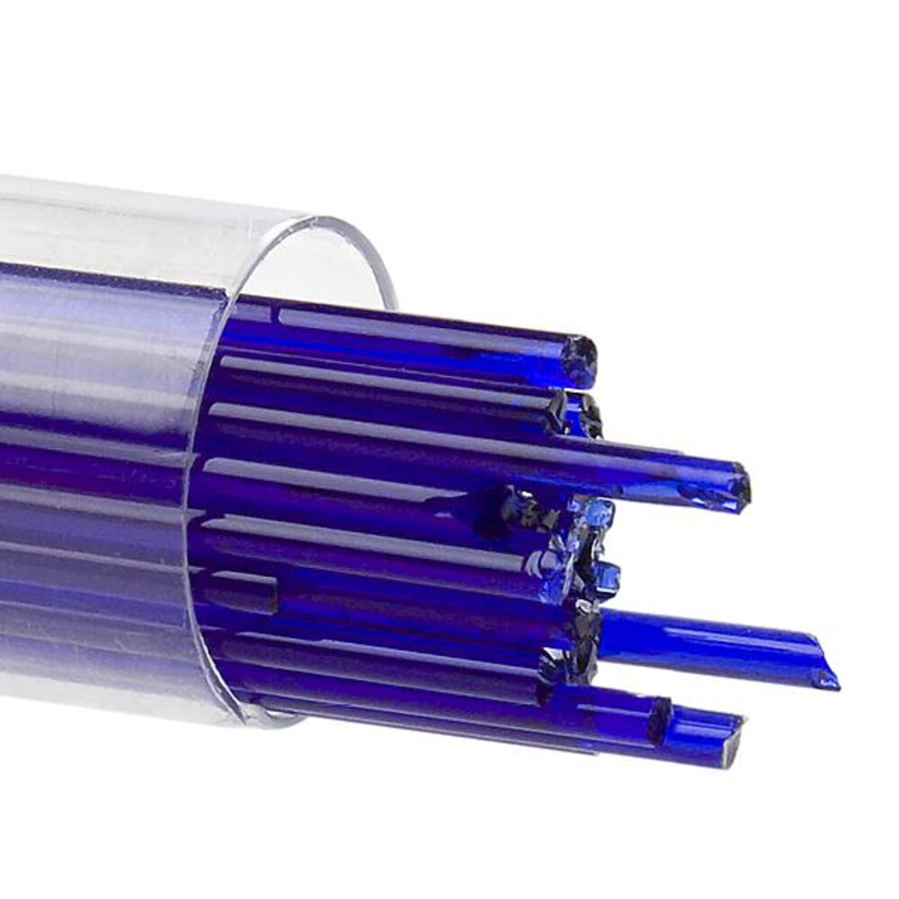Bullseye Glass Stringers Deep Royal Blue Transparent COE90