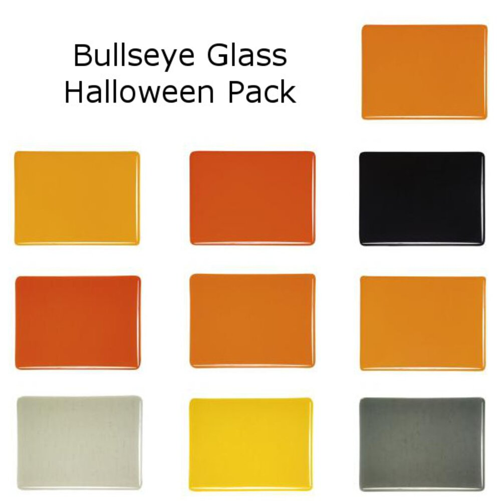 Bullseye Halloween Glass Pack, Double-rolled, 3mm COE90