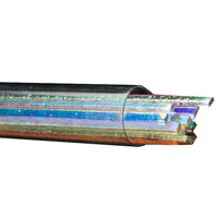 Bullseye Glass Dichroic Sizzle Stix, Clear, Mixed Colors, 3mm width COE90