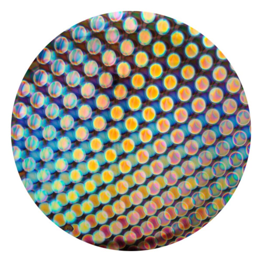 CBS Dichroic Coating Balloons 1 Pattern on Thin Clear Glass COE90