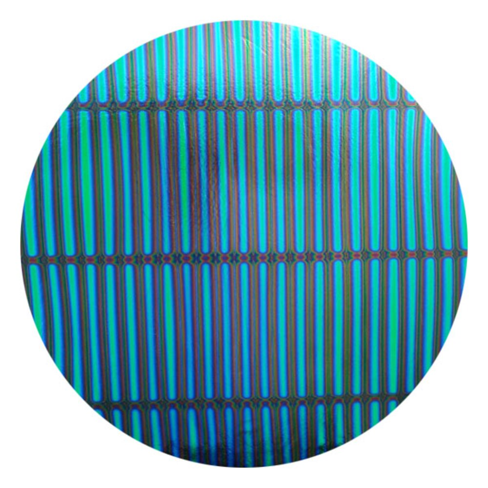 CBS Dichroic Coating Emerald Green 3/4 Stripes Pattern on Thin Black Glass COE90