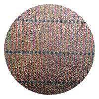 CBS Dichroic Coating Green/ Magenta Blue 3/4 Stripes Pattern on Clear Ripple Glass COE90