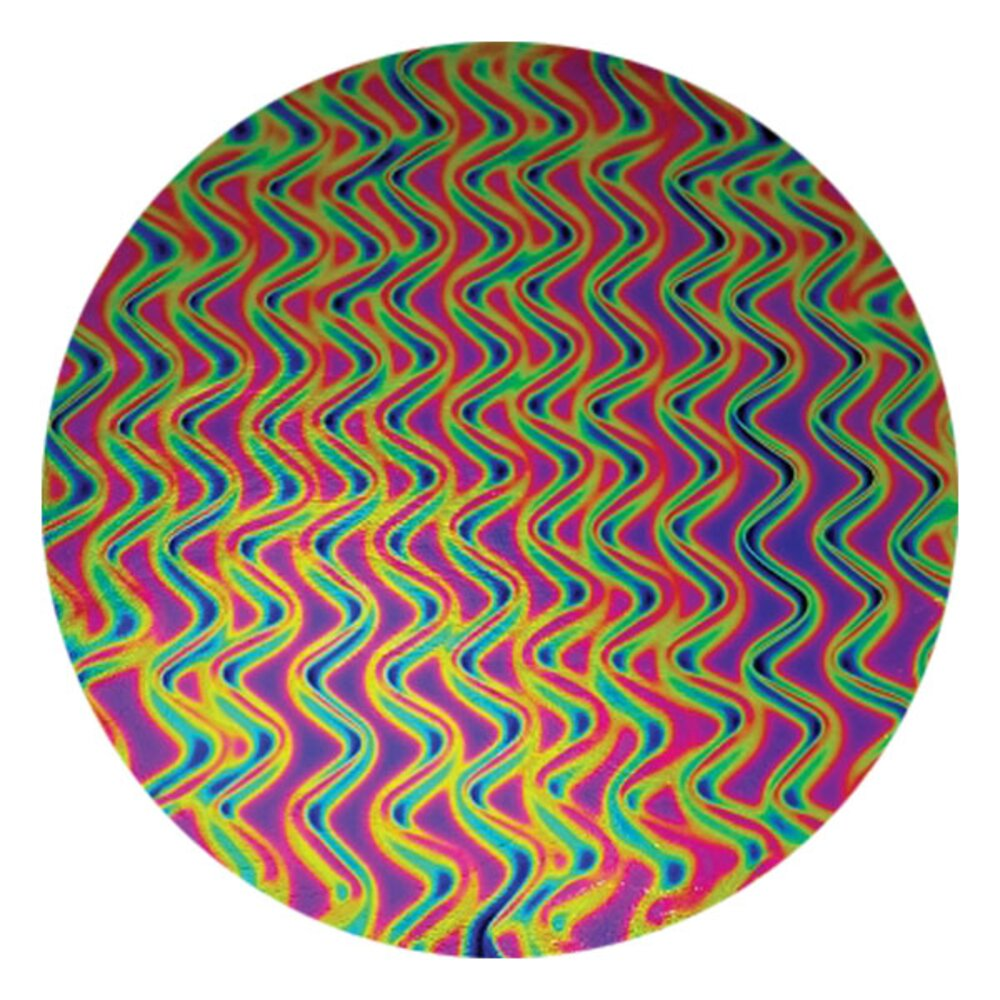 CBS Dichroic Coating Green/ Magenta Twizzle Pattern on Thin Black Glass COE90