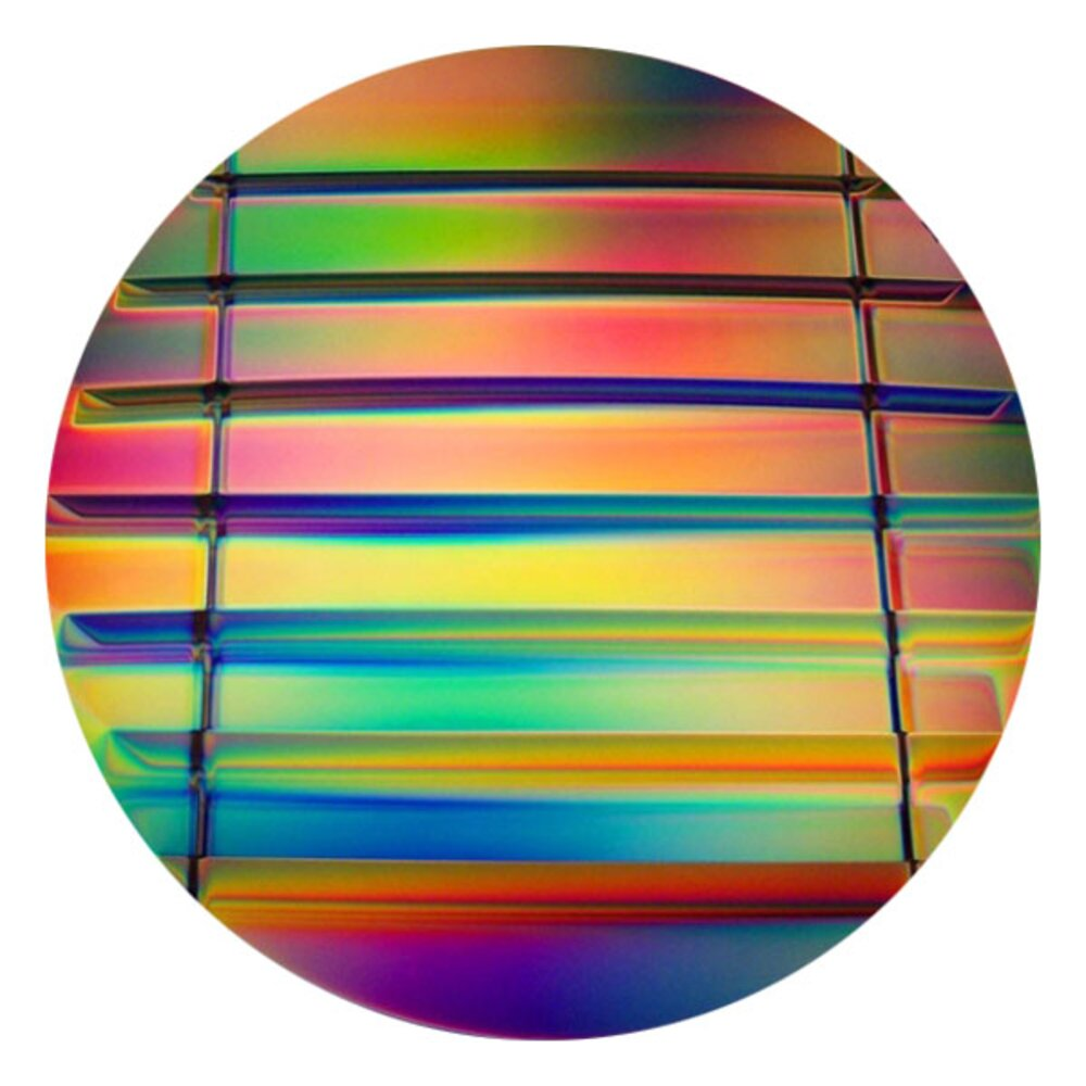 CBS Dichroic Coating Mixture 2 Stripes Pattern on Thin Black Glass COE90