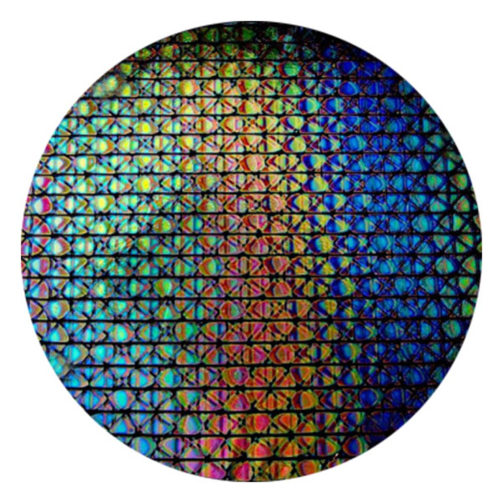 CBS Dichroic Coating Mixture Geodesic Pattern on Thin Clear Glass COE90