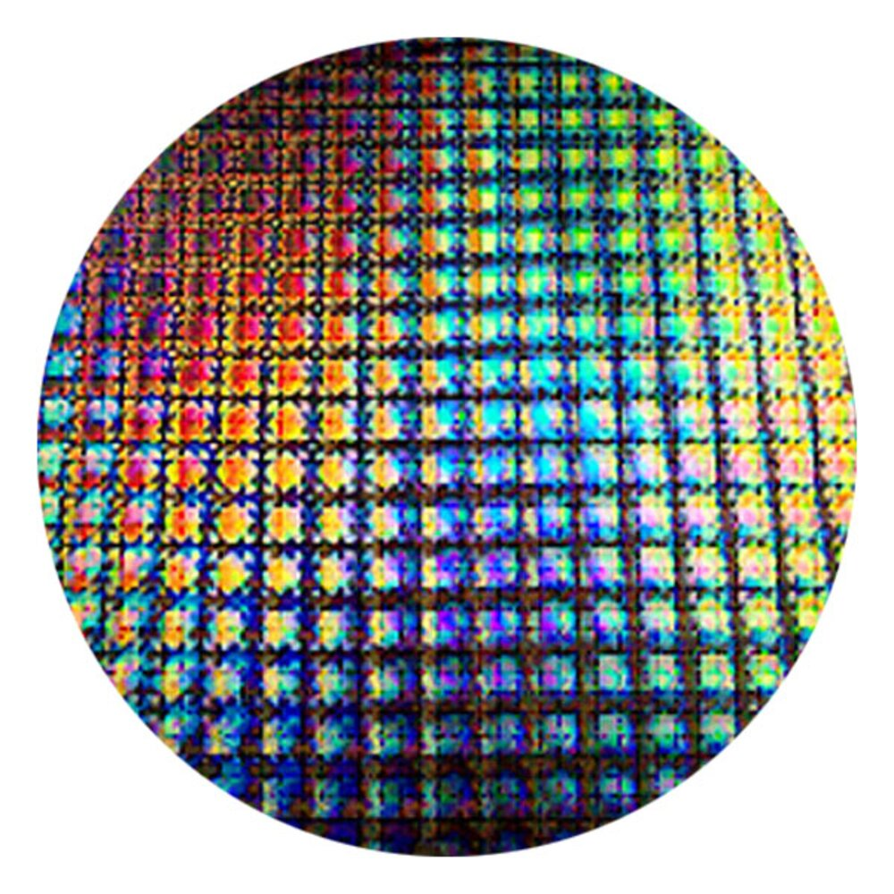 CBS Dichroic Coating Mixture Puzzle Pattern on Thin Black Glass COE90