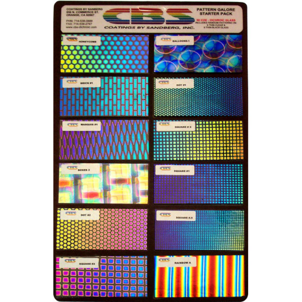 CBS Dichroic Patterns Galore Starter Pack COE96