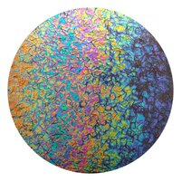 CBS Dichroic Coating Rainbow 2 Fusion Pattern on Black Bits Glass COE90