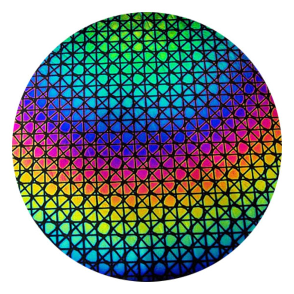 CBS Dichroic Coating Rainbow Geodesic Pattern on Thin Clear Glass COE90
