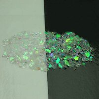 CBS Emerald Dichroic Frit 1oz On Clear Glass - COE90