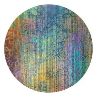 CBS Dichroic Coating Mixture Fusion with Stell Strips Pattern on Thin Black Glass COE90