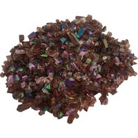CBS Purple Dichroic Frit 1oz on Purple Transparent Glass COE96