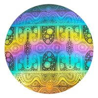 CBS Dichroic Coating Rainbow 2 with Stell Original Pattern on Thin Black Glass COE90