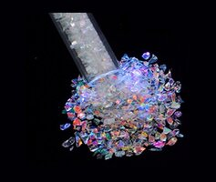 CBS Rainbow Dichroic Frit Flakes 1oz On Clear Glass COE90