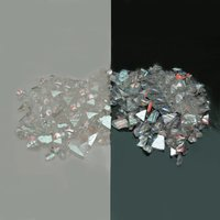 CBS Red/ Silver Dichroic Frit 1oz On Clear Glass - COE90