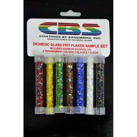CBS Dichroic Glass Frit Flakes Sample Set COE96